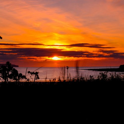 Dunnet Beach Sunset By Malcolm Gray