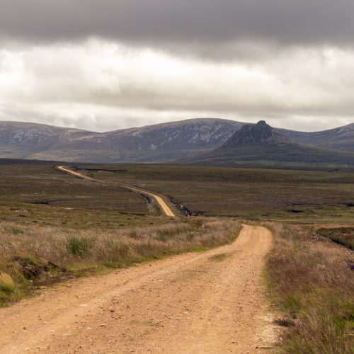 Looking back on the track from Braemore to Glutt by Julie Catterall