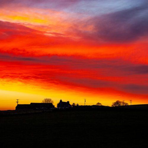 Scotscalder Sunriset by Malcolm Gray