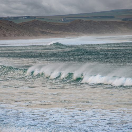 Surf on Dunnet Beach by Malcolm Gray