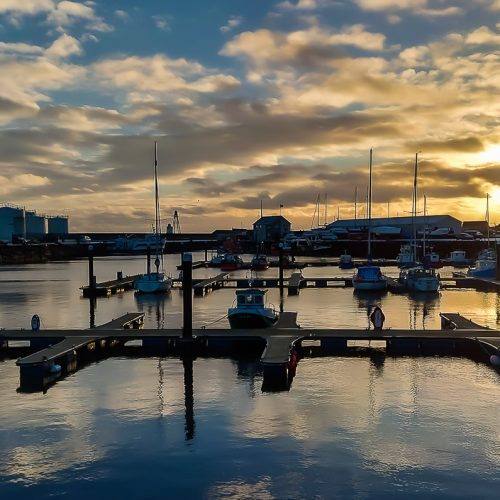Wick Harbour Mornings by Ally Mackechnie