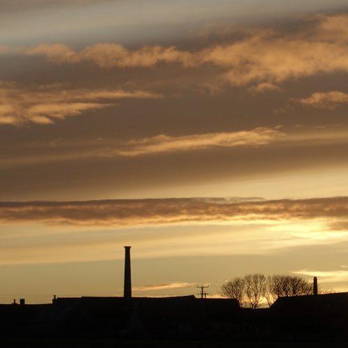 Winter Sunset Over Ackergill Mains by Carol Gunn